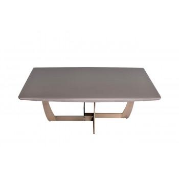 Журнальный столик из дерева на металлической основе со стеклянной столешницей Space 120*120*40см 58DB-CT14803