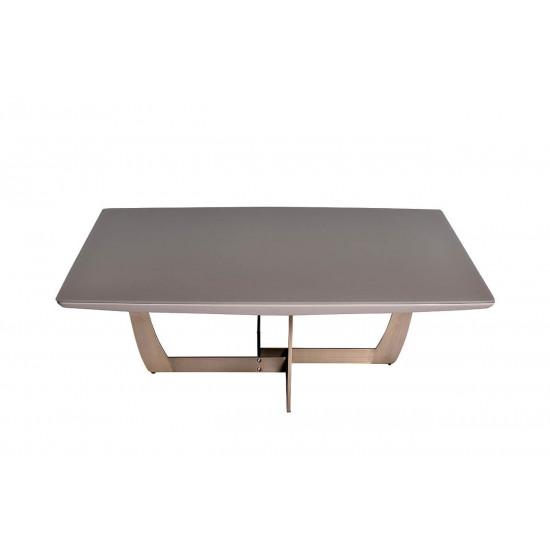 Журнальный столик из дерева на металлической основе со стеклянной столешницей Space 120*120*40см 58DB-CT14803 в интернет-магазине ROSESTAR фото