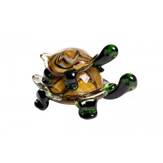 Статуэтка Черепашки коричнево-зеленая 16*10*10см в интернет-магазине ROSESTAR фото