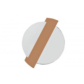Круглое декоративное зеркало с тонированной зеркальной вставкой 86*107*2,5 19-OA-6248