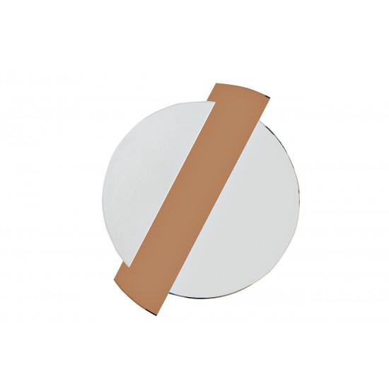 Круглое декоративное зеркало с тонированной зеркальной вставкой 86*107*2, 5 19-OA-6248