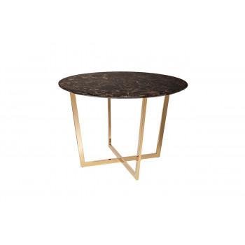 Стол обеденный круглый коричневый (искусственный мрамор) 33FS-DT3022-PG