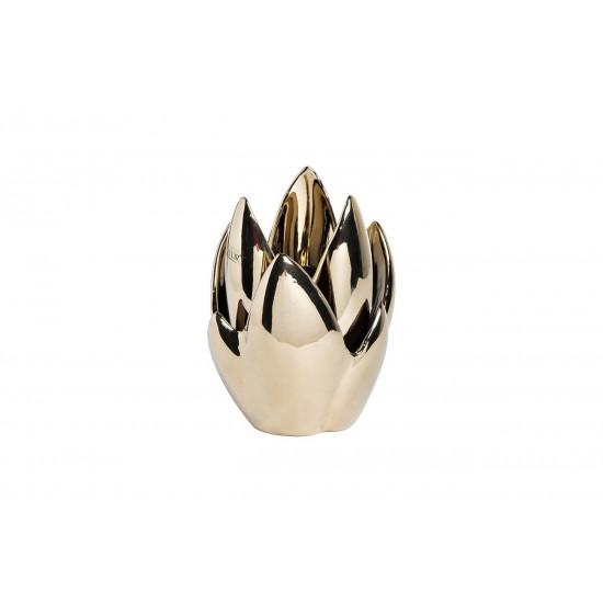 Подсвечник керамический цвет золотой 13*13*19.5 10K8152B-G в интернет-магазине ROSESTAR фото