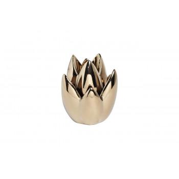 Подсвечник керамический цвет золотой 11*11*14.5 10K8152C-G