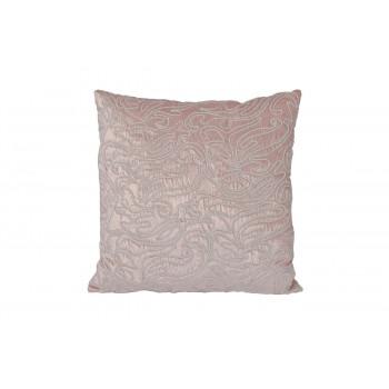 Декоративная подушка с ажурным декором светло-розовая 45*45см 70SW-16852