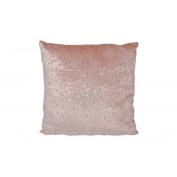 Декоративная подушка с бусинками светло-розовая 45*45см 70SW-290133