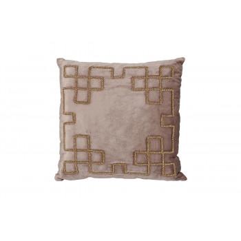 Декоративная подушка с бисером Геометрия бежевая 45*45см 70SW-29057