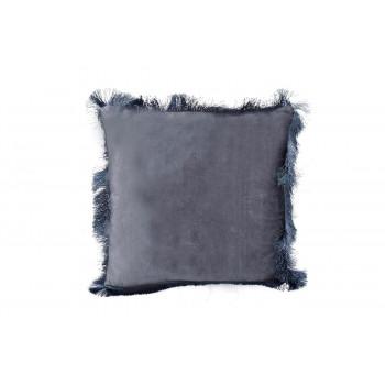 Декоративная подушка с бахромой синяя 45*45см 70SW-28051
