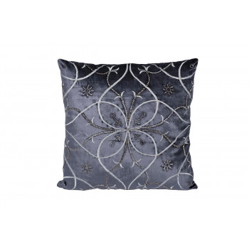 Декоративная подушка с вышивкой Узор синий 45*45см 70SW-28070
