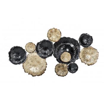 Настенный декор Цветы золотисто-черные 92*51*7см 37SM-0277-R