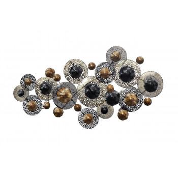Настенный декор Цветы черно-золотые 134,6*68,6*8,3см 37SM-0375-R
