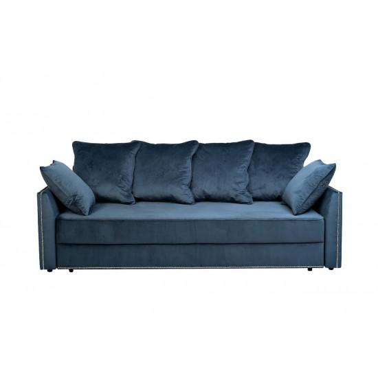 Велюровый трехместный раскладной диван Mores Бирюзовый 226*103*94см арт. Bel36 в интернет-магазине ROSESTAR фото