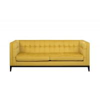 Велюровый трехместный раскладной диван Palermo Горчица 216*83*78см Vel28