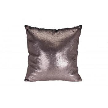 Декоративная квадратная подушка с пайетками бронзовая/черная 45*45см ASH507030