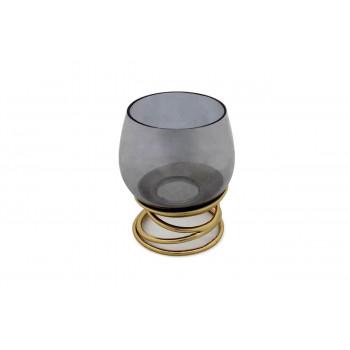 Декоративный стеклянный подсвечник Циклон 13,5*16,5см 69-1117090