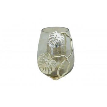 Декоративный стеклянный подсвечник Тропики 25*22*28см 69-1218225