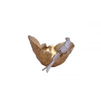 Декоративное металлическое блюдо Райская птица 25*25*15,8см 69-816027М