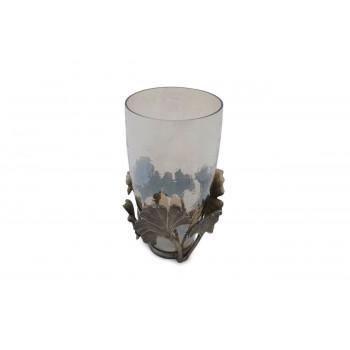 Стеклянная декоративная ваза Гинкго 23*39см 69-1117208