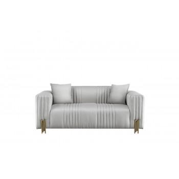Двухместный диван на золотых ножках Бежевый 96*191*78см ZW-93002 BG