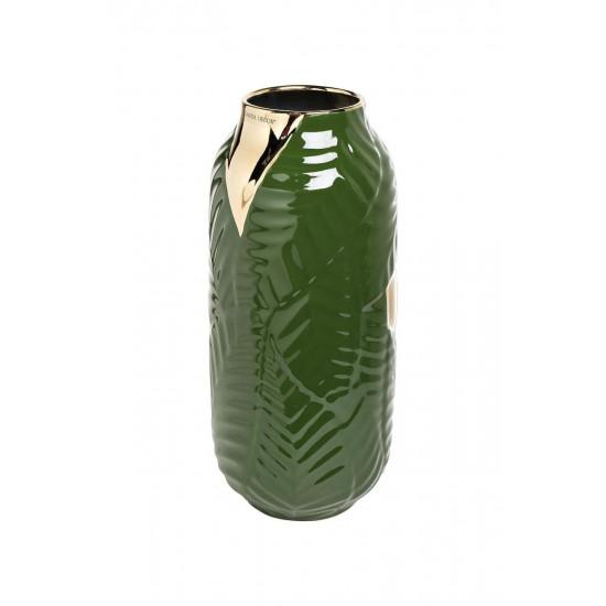 Керамическая ваза зеленая d17*36см 55RV3749L в интернет-магазине ROSESTAR фото