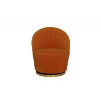 Оранжевое кресло вращающееся велюр 67*75*78см 48MY-2632 OR