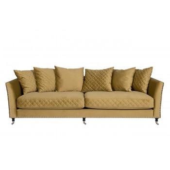 Велюровый трёхместный диван Sorrento 250*101*90см Ром27