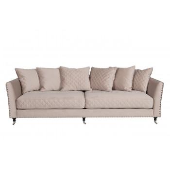 Велюровый трехместный раскладной диван Sorrento Крем-брюле 250*101*90см Bel42