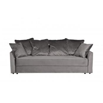 Велюровый трехместный раскладной диван Mores Серый  226*103*94см Н-Йорк112