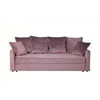 Велюровый трехместный раскладной диван Mores Пыльная роза роза 226*103*94 Н-Йорк40