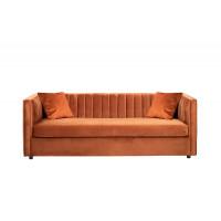 Велюровый трехместный раскладной диван Paolo Терракот  232*91*74см, 2 подушки Bel39