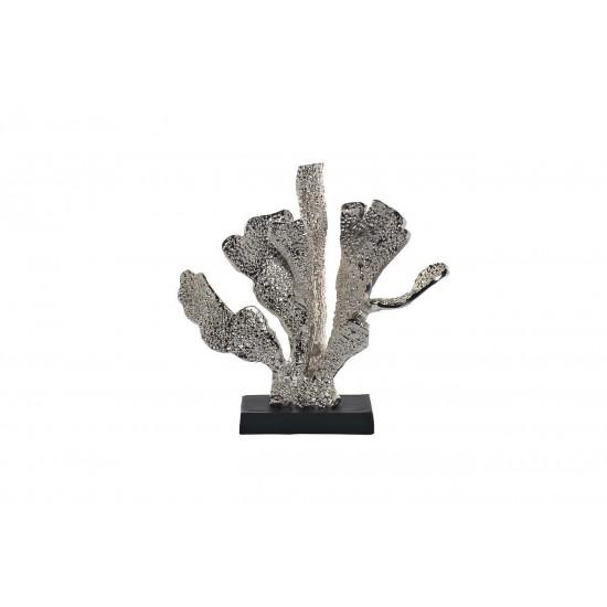 Статуэтка Листья цвет серебро 37*14*34см 71PN-1348 в интернет-магазине ROSESTAR фото