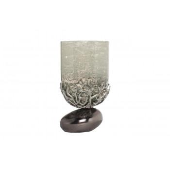Декоративный металлический подсвечник d14*27см 71PN-30461