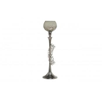 Декоративный металлический высокий подсвечник d13*50см 71PN-30560