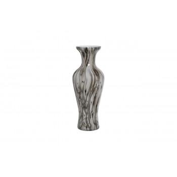 Стеклянная ваза с эмалью d18*44см 71PN-50730