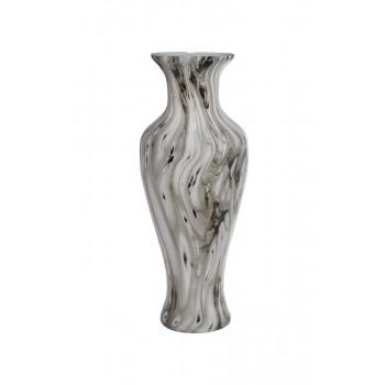 Стеклянная ваза с эмалью d27*68см 71PN-50732