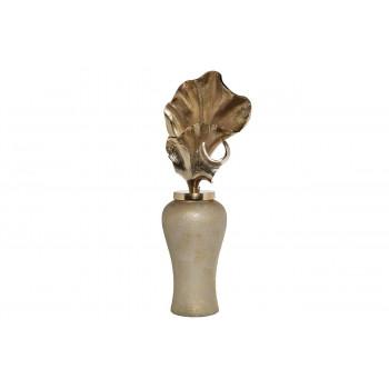 Декоративная ваза золотая с крышкой 25*18*65см 71PN-50736