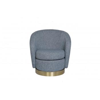 Кресло вращающееся серое (рогожка) 76AR-7384GOLD-GRB