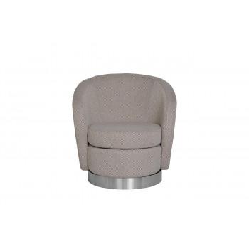 Кресло вращающееся серо-белое (рогожка) 76AR-7384-WG