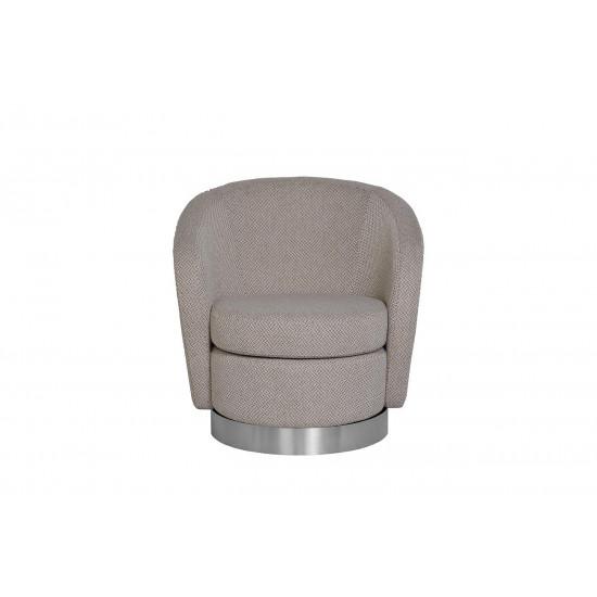 Кресло вращающееся серо-белое (рогожка) 76AR-7384-WG в интернет-магазине ROSESTAR фото