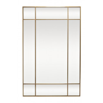 Зеркало в зеркальной металлической раме цвет золото 90*140см KFG047