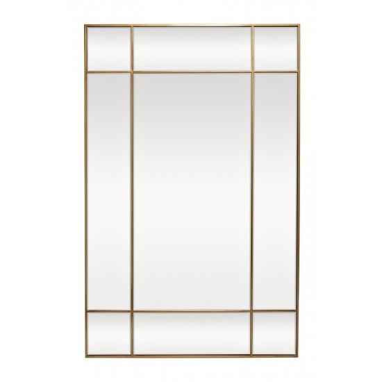 Зеркало в зеркальной металлической раме цвет золото 90*140см KFG047 в интернет-магазине ROSESTAR фото