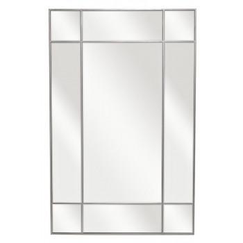Зеркало в зеркальной металлической раме цвет хром 90*140см KFG048