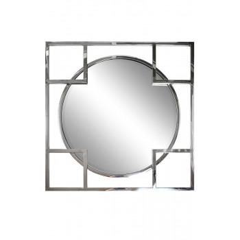 Квадратное/круглое зеркало в металлической раме цвет хром 83*83см KFE1120