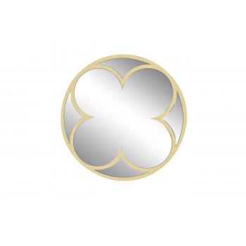 Круглое зеркало в металлической раме цвет золото d92см KFE1160