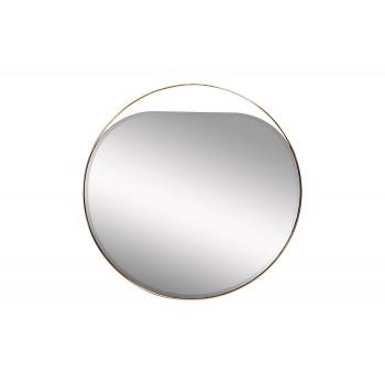 Круглое зеркало в металлической раме цвет золото d84см KFE1240