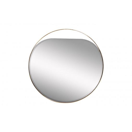 Круглое зеркало в металлической раме цвет золото d84см KFE1240 в интернет-магазине ROSESTAR фото