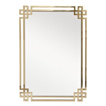 Зеркало в металлической раме цвет золото 71*102см  KFE1270