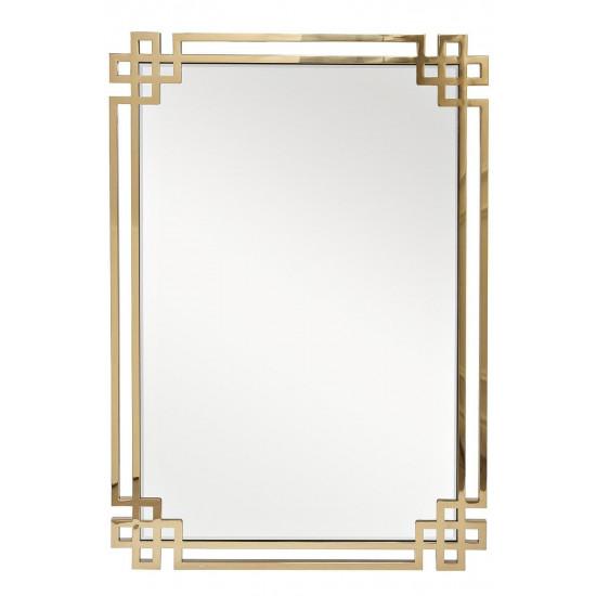 Зеркало в металлической раме цвет золото 71*102см  KFE1270 в интернет-магазине ROSESTAR фото