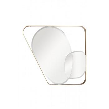Зеркало в металлической раме цвет золото  91*102см KFE1210