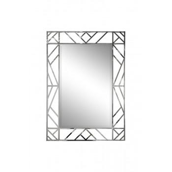 Зеркало прямоугольное декоративное в металлической раме цвет хром 71*99см KFE1350